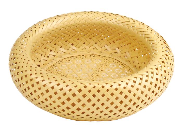 優美な編み模様を堪能 花六つ目編(大) 竹籠 可憐でエレガントな竹細工 竹かご 無双籠