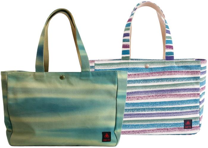 多い荷物も 颯爽と持ち運べる 粋布のかばん 帆布 引染トートバッグ(大)