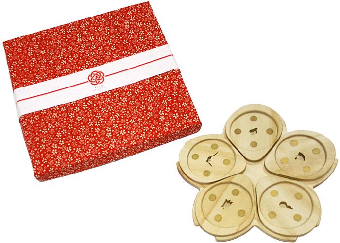 桜でもてなす 優雅なお茶時間 トレイとコースターのセット おもてなしsakura set【あす楽】