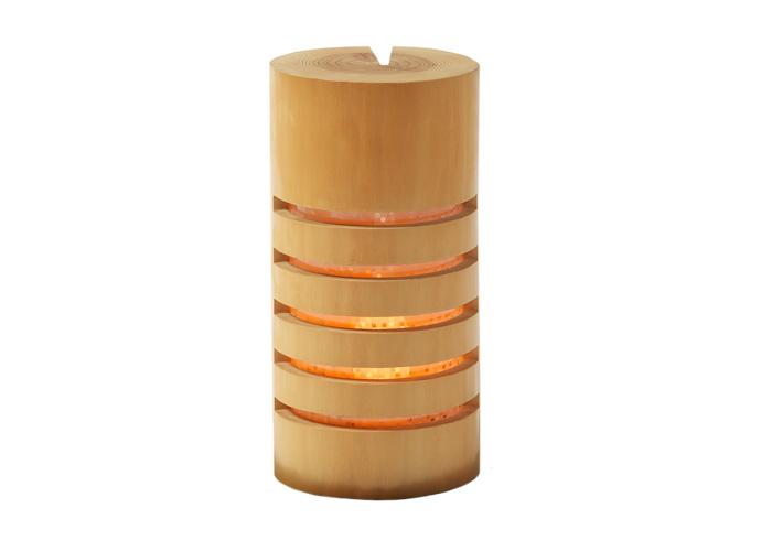 京都の伝等工芸品を照明にしました [正規販売店] 初回限定 北山丸太の特徴である木肌の美しさと年輪の細かさが見て取れる逸品 ゆらぎ 京のこもれ灯