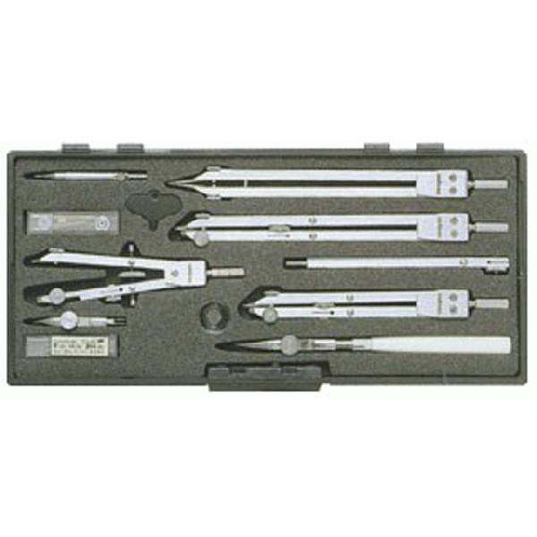 製図用品   独式製図器セット (8本組16品)