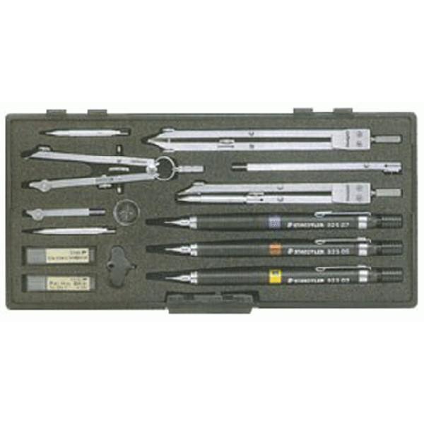 製図用品   独式製図器セット (10本組17品)
