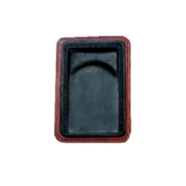 麻子抗 彫花硯(ましこう ちょうかけん) 5吋 木箱付/布箱