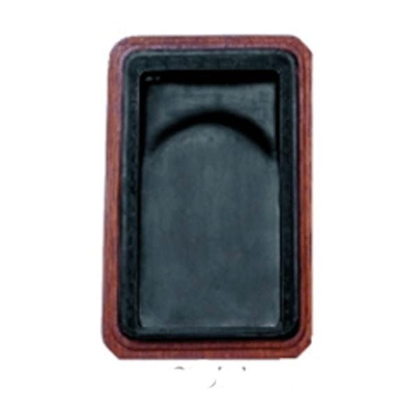 麻子抗 彫花硯(ましこう ちょうかけん) 8吋 木箱付/布箱