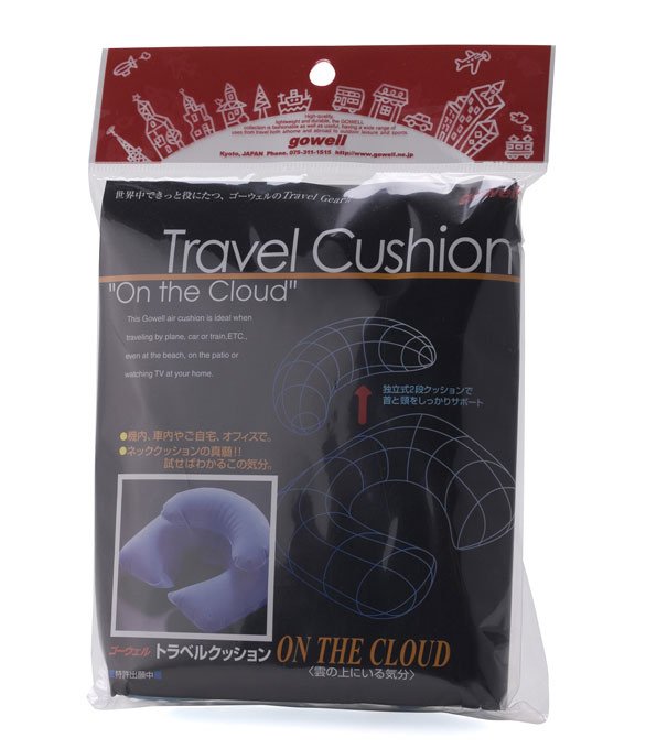 ★TRAVELGOODS★Two-stage type movable type neck cushion 'travel cushion オンザクラウド' travel toy domestic travel overseas travel travel air Pero inflatable in-flight convenient comfort neck pillow neck pillow 10P13oct13_b.