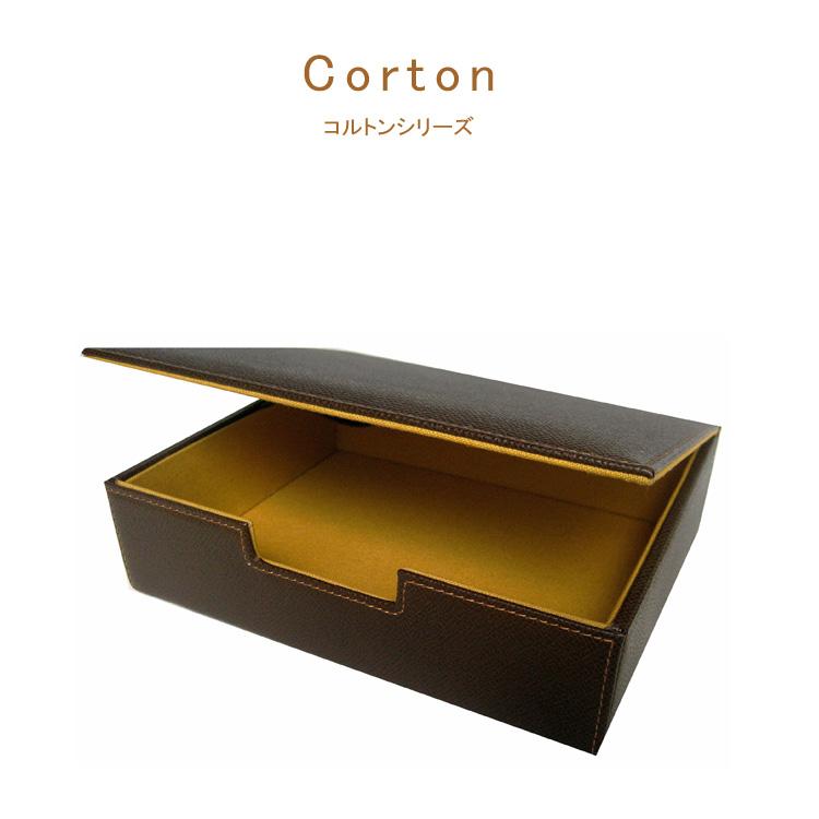 corton コルトン デスクBOX メンズ 日本製 牛革 コットン 高級【new_d19】