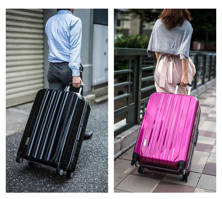 手提箱携带箱高容量的 PC 100%镜像帧类型角垫大 4 轮 L 大小双脚轮为 10P27Jun14 的 TRAVELIST 信任推荐流行
