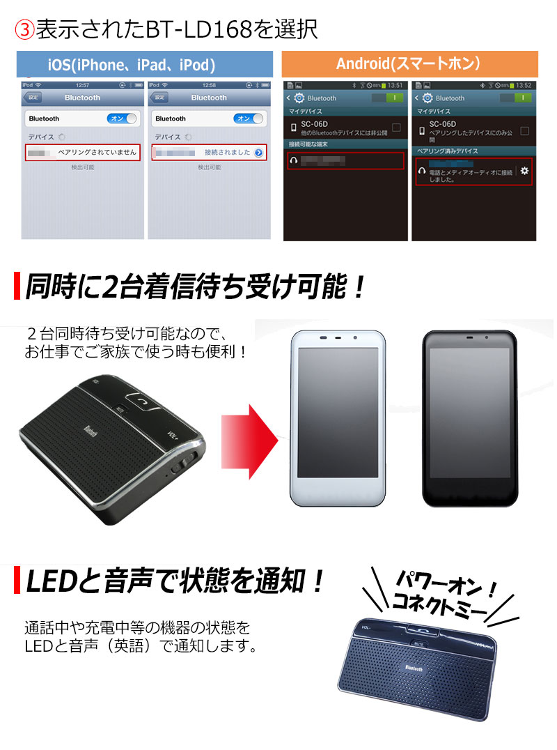 In-vehicle iPhone Android gallaKay android inside of car call hands-free  kit cigar socket power supply-adaptive car vibration perception hands-free