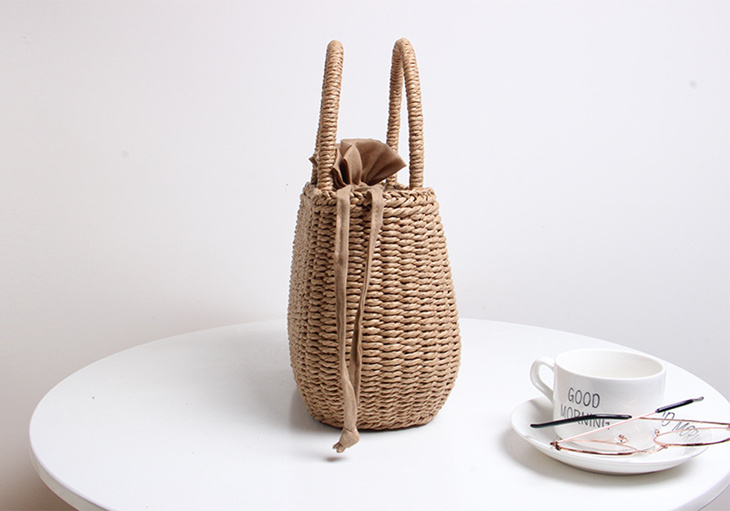 9084dae45 kyrie: The hand-knitted bag summer new work which lady's bag basket ...