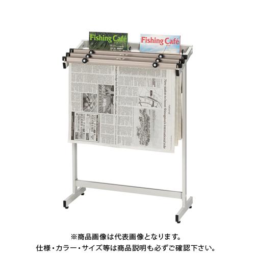 クラウン 新聞架(スチール製)3段タイプ CR-SN301-W