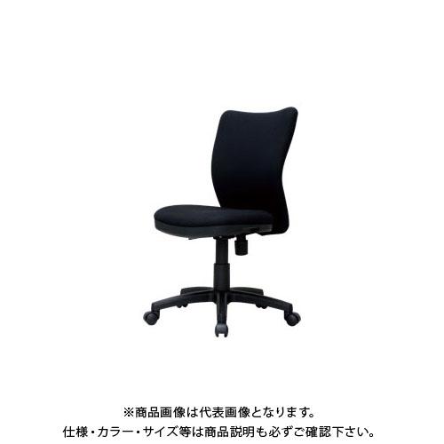 弘益 オフィスチェア(肘無)K922ブラック K-922(BK)