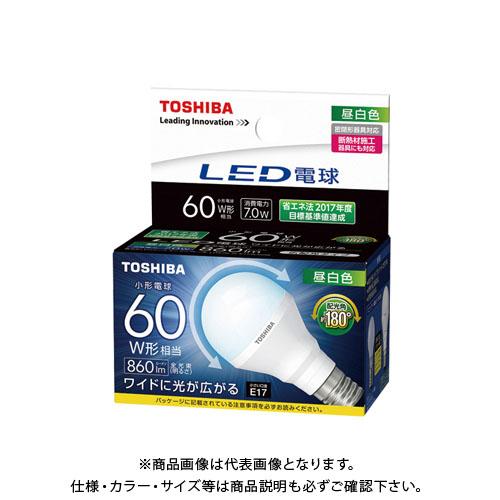 【6月5日限定!Wエントリーでポイント14倍!】東芝 LED電球(E17 7.0Wタイプ) (10ヶ) LDA7N-G-E17/S/60W