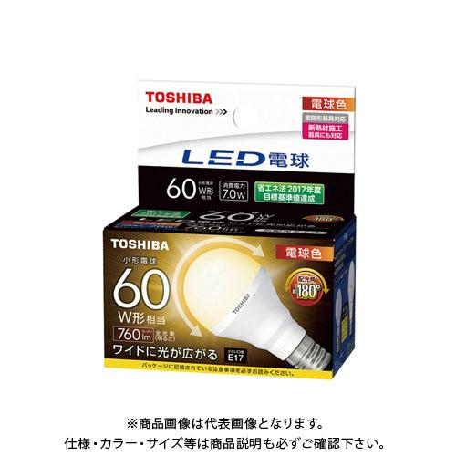 東芝 LED電球(E17 7.0Wタイプ) (10ヶ) LDA7L-G-E17/S/60W