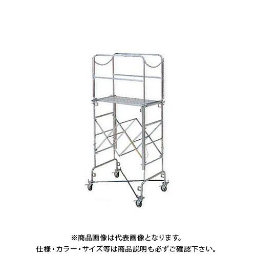 【直送品】アルインコ ALINCO 折りたたみ式伸縮足場(フジステージ) 手すり付セット F12-19RA