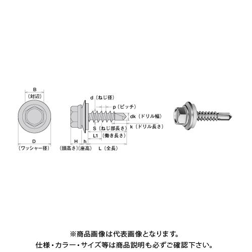 ヤマヒロ SUS304ステンレスキャップ付ヘックスSUS304AZワッシャー付〈6カク〉 6X90 三価ユニクロ SCH690AZW 200本(小箱)