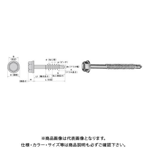 ヤマヒロ SUS304ステンレスキャップ付ヘックス〈6カク〉 6X105 三価ユニクロ SCH6105 200本(小箱)