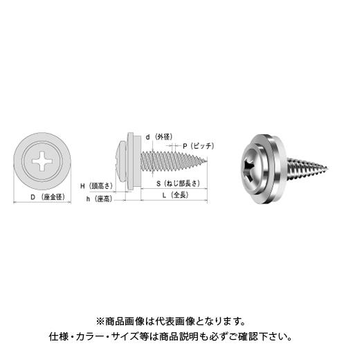 ヤマヒロ SUS410 トルネードポイント トラスAZワッシャー付 4X16 パシペート 700本(小箱) STT416AZW