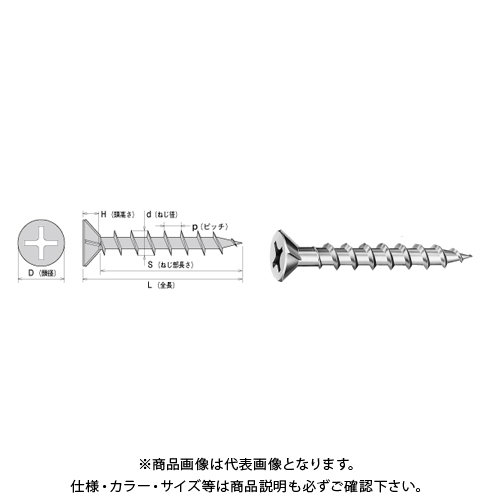 【運賃見積り】【直送品】ヤマヒロ コーススレッド フレキ 4.2X51 三価ユニクロ 500本X10箱 W51F