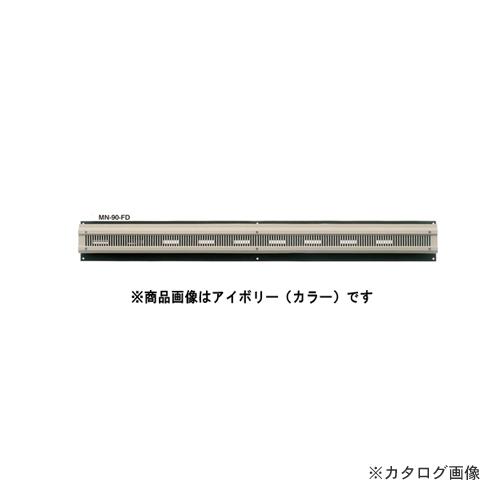 """カネシン 軒裏換気口""""見切タイプ"""" ホワイト (10台入) ダンパー付 MN-90-FD"""
