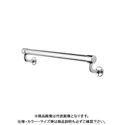 【運賃見積り】【直送品】浅野金属工業 ASANO 壁付用手摺 φ38×4000L L型エンド木ネジ 鏡面 AK43933-40