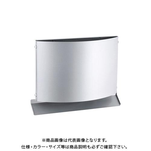 宇佐美工業 W型フード付ガラリ 上下開口型 φ100 ブラック (12ヶ入) WEV100B-BK