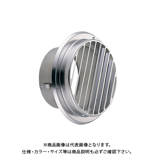宇佐美工業 丸型ガラリ(ビス脱着式・左右両吹型) φ100 電解研磨処理 (24ヶ入) SBV100BW-DK