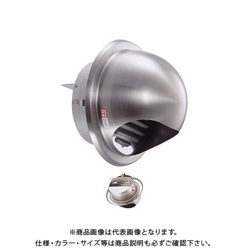 宇佐美工業 丸型フード付ガラリ 溶接組立式 防火ダンパー付 φ75 ブラック (36ヶ入) GN75SHD-BK