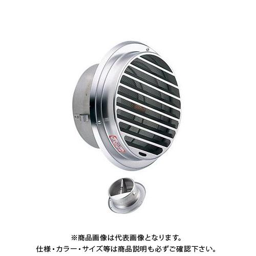 宇佐美工業 丸型ガラリ(内向き) ビス脱着式 防火ダンパー付 φ100 電解研磨処理 (24ヶ入) SBN100BFD-DK