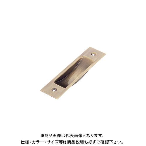 宇佐美工業 チリ出し戸引手 薄口 SUS304 90mm 真鍮メッキ (50×20入)
