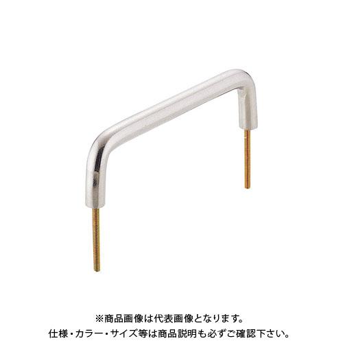 宇佐美工業 丸棒 ハンドル 糸ネジ止め式 SUS303 小 シルバー(バレル研磨) (30×20入) 小