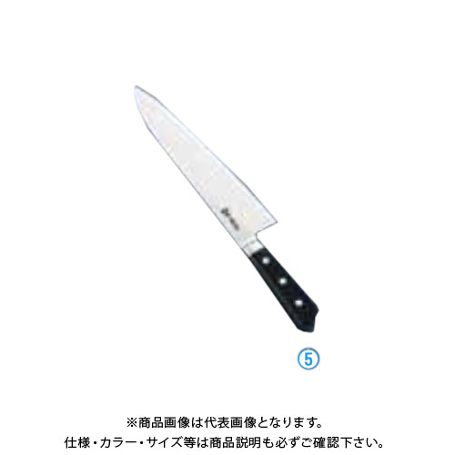 TKG 遠藤商事 堺菊守日本鋼(口金付)洋出刃 24cm AKK5803 7-0296-0503