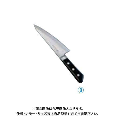 TKG 遠藤商事 堺孝行 日本鋼(ツバ付)ガラスキ 18cm ANH08 7-0298-0801