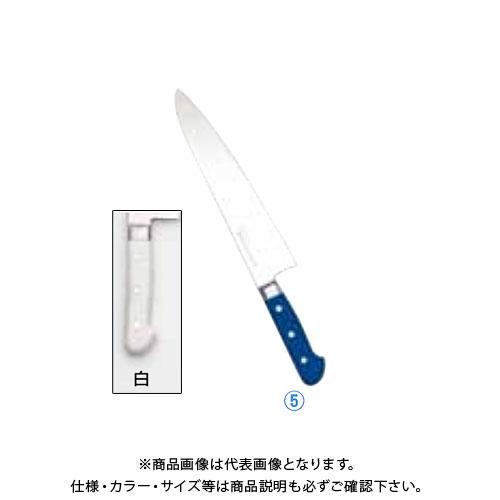 TKG 遠藤商事 堺實光 STD抗菌PC 牛刀(両刃) 18cm 白 56164 AZT7006 7-0318-0526