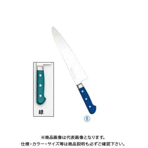 TKG 遠藤商事 堺實光 STD抗菌PC 牛刀(両刃) 24cm 緑 56046 AZT7015 7-0318-0513