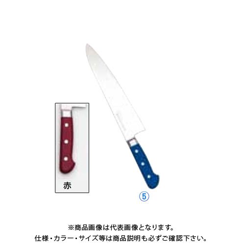 TKG 遠藤商事 堺實光 STD抗菌PC 牛刀(両刃) 27cm 赤 56127 AZT7023 6-0310-0523