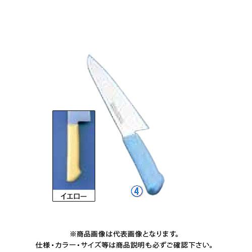 TKG 遠藤商事 マスターコック抗菌カラー庖丁 洋出刃 MCDK-180 イエロー AMSE518YE 6-0311-0406