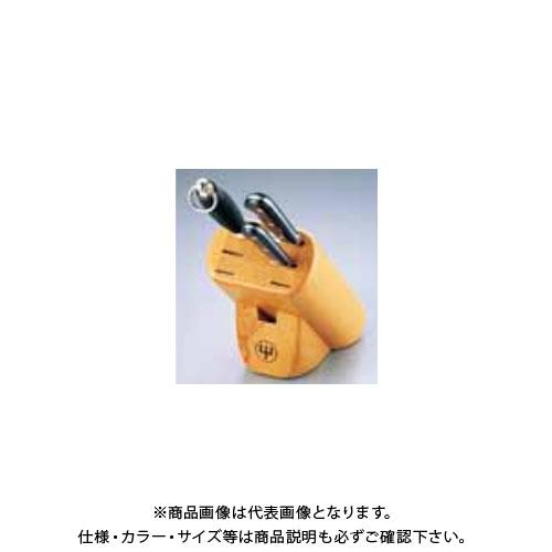 TKG 遠藤商事 ヴォストフ ナイフブロック No.7233(木製) ADLB5 6-0348-0501