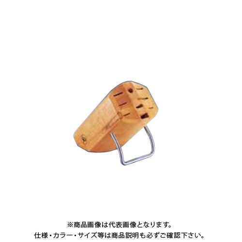TKG 遠藤商事 ヴォストフ ナイフブロック 7256(木製) ADL95 6-0348-1301