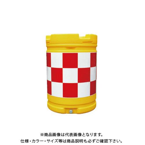 【直送品】安全興業 AZクッションドラム 赤白 (1入) AZC-001