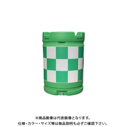 【直送品】安全興業 AZクッションドラム 緑白 (1入) AZC-004