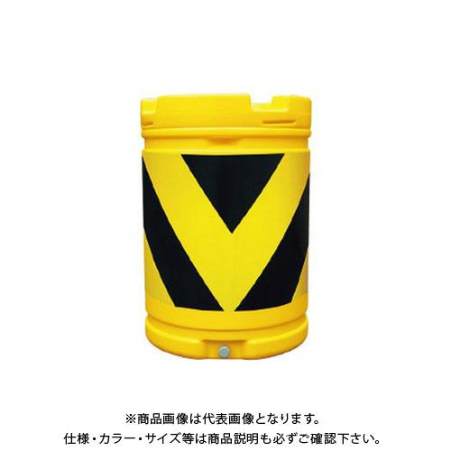 【直送品】安全興業 AZクッションドラム 蛍光黄プリズム黒 (1入) AZC-006