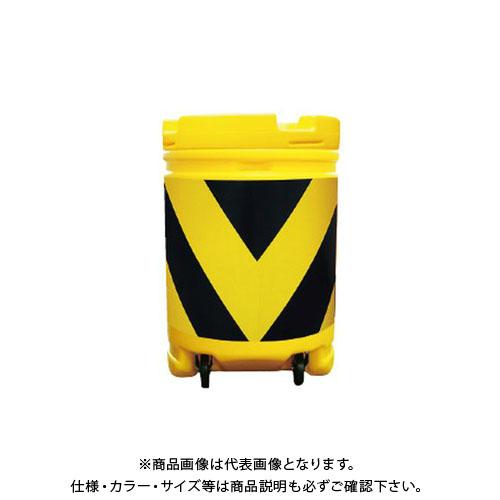【運賃見積り】【直送品】安全興業 AZクッションドラムコロ付 蛍光黄プリズム黒 (1入) AZCK-006