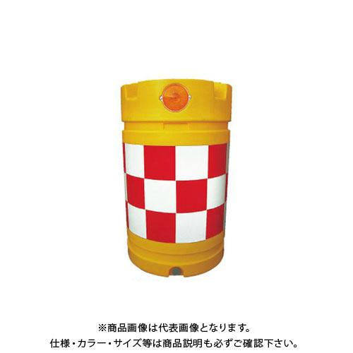 【直送品】安全興業 デリネーター付バンパードラム 赤白 (1入) KDD-2