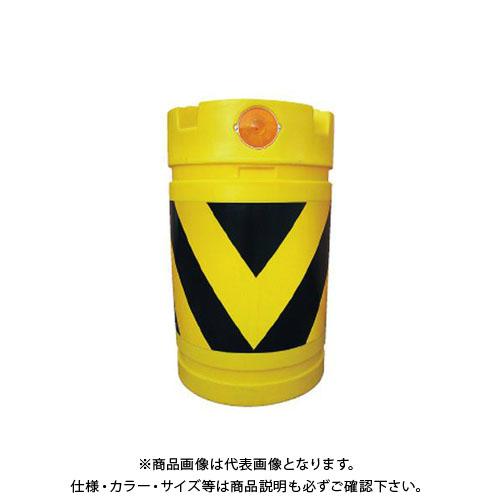 【直送品】安全興業 デリネーター付バンパードラム 黄黒 (1入) KDD-3