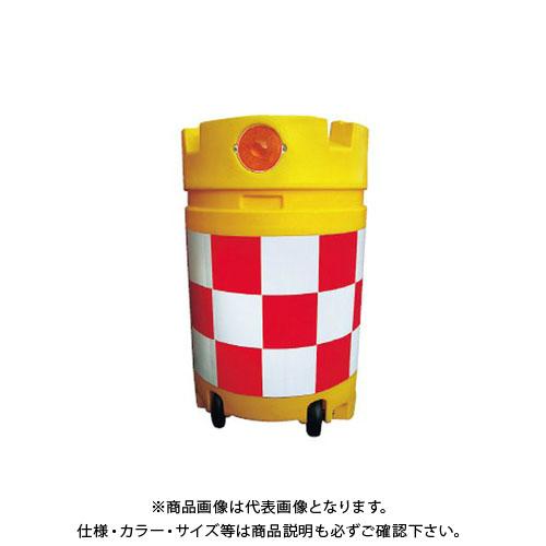 【直送品】安全興業 デリネーター付コロコロドラム君 赤白 (1入) KDC-02