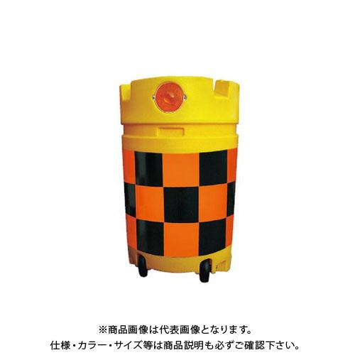 【直送品】安全興業 デリネーター付コロコロドラム君 高輝度 (1入) KDC-04