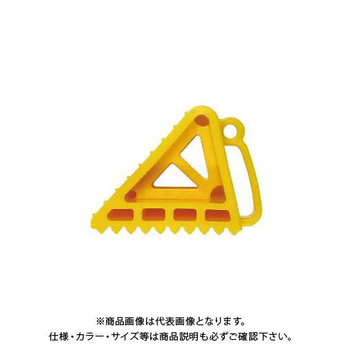 【直送品】安全興業 タイヤストッパー 黄 (10入)