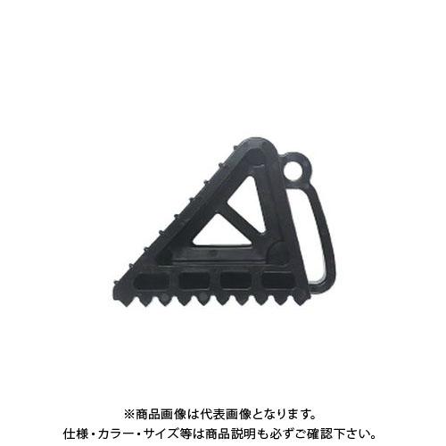 【直送品】安全興業 タイヤストッパー 黒 (10入)