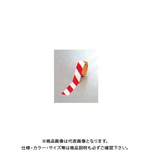 【運賃見積り】【直送品】安全興業 ダイヤテープ(10M巻)45mm巾 赤/白 (24入) NRR-45