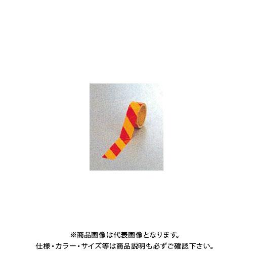【運賃見積り】【直送品】安全興業 ダイヤテープ(10M巻)45mm巾 赤/黄 (24入) NRY-45